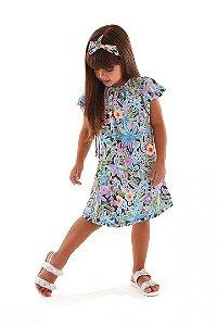 Vestido Infantil Floral Preto Up Baby 43397