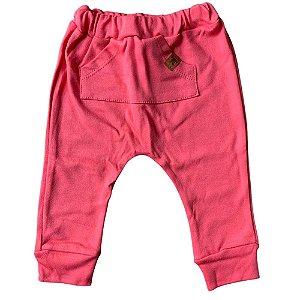 Calça Saruel (mijão) para Bebê 66854 Rosa