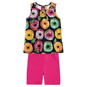 Conj Regata e Shorts Cotton Frutas Kyly 111100