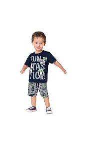 Conj Camiseta e Short Moletinho Animais Kyly 111193