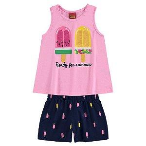 Conj Regata e Short Infantil Sorvete Kyly 111136