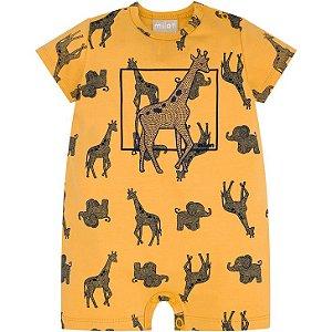 Macacão Curto p/ Bebê Safari Milon 13410