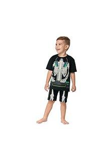 Pijama Infantil Verão Esqueleto Kyly 111274