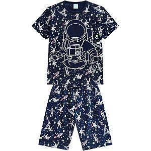 Pijama Infantil Masc Curto Kyly Astronauta 110343