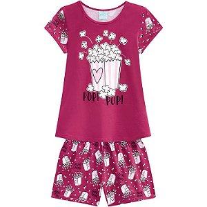 Pijama Infantil Fem Curto Kyly Pipoca 110333