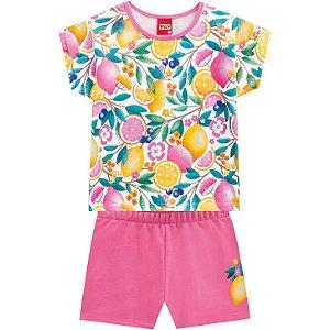 Conjunto Infantil Kyly Short Moletinho e Camiseta 110226