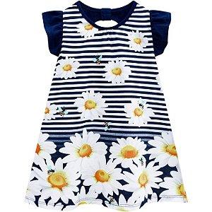 Vestido Infantil Kyly Margaridas 110189