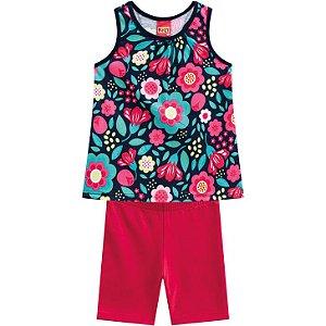 Conjunto Infantil Kyly Bermuda Cotton e Regata 110222