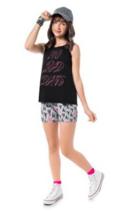 Conjunto Teen Feminino Regata + Short 51390