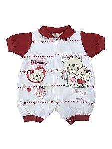 Macacão Curto Smoby Baby Vermelho 937430