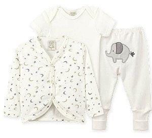 Conjunto Infantil Body Curto + Casaco + Calça Pingo Lelê  66143