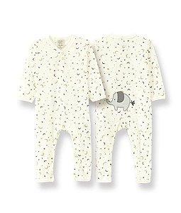 Macacão Longo para Bebê em Suedine Elefante Pingo Lelê 9011