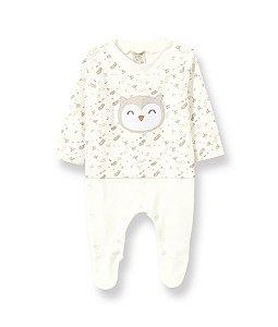 Macacão Longo para Bebê em Suedine Coruja Pingo Lelê 66266