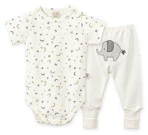 Conjunto Bebê Body Curto + Calça Pingo Lelê 66145