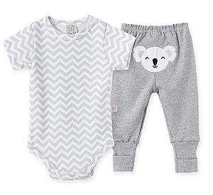 Conjunto Bebê Body Curto + Calça Pingo Lelê 66272