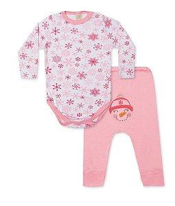 Pijama para Bebê Body longo + Calça Saruel 75065