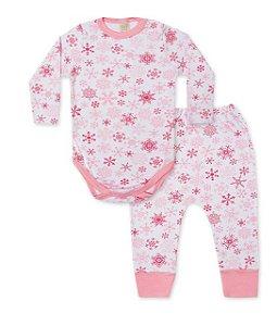 Pijama Bebê Body Longo + Calça Pingo Lelê 75075