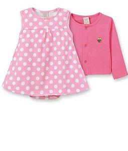 Conjunto Infantil Body Vestido + Casaqueto 66060