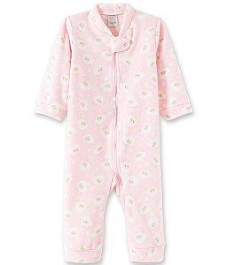 Macacão Infantil Soft com Zíper - Ovelha Rosa  9013