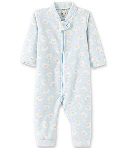 Macacão Infantil Soft com Zíper - Ovelha Azul  9013