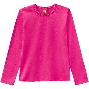 Blusa Infantil Manga Longa Cotton Pink 206210