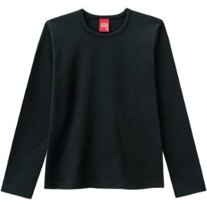 Blusa Infantil Manga Longa Cotton Preta 206210