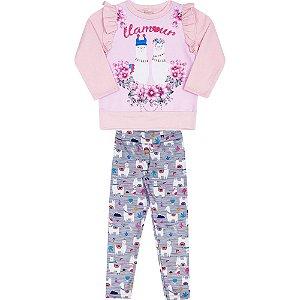 Conjunto Infantil Legging e Moletom Lhama - Serelepe 5330