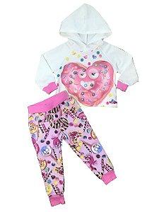 Conjunto Infantil Legging Doces + Blusa com Capuz Mon Sucre 7326