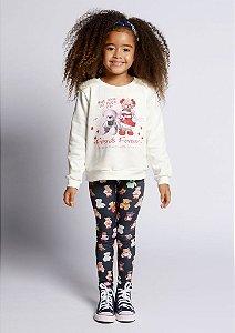 Conjunto Infantil Moletom + Legging Urso Pega Mania 75130