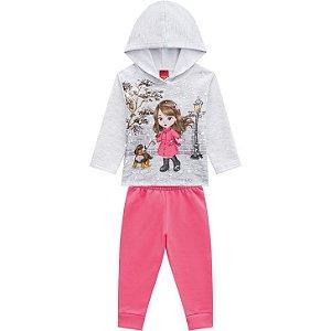 Conjunto Infantil Casaco + Calça Menina na Neve Kyly 207098