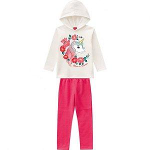 Conjunto Infantil Feminino Casaco + Calça Unicónio Kyly 206883