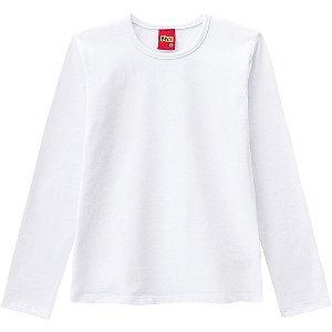 Blusa Infantil Manga Longa Cotton Branca 206210