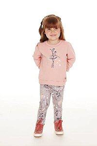 Conjunto Infantil Moletom + Legging Bailarina Pega Mania 75138