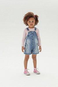 Jardineira Jeans Infantil - Mon Sucre 3000