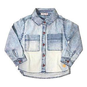 Camisa Jeans Infantil Feminina Mon Sucre 31618