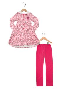 Conjunto Casaco c/ Capuz + Legging Oncinha Pink 206061
