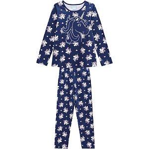 Pijama Anti Mosquito Infantil Unicornio Kyly Azul  207009