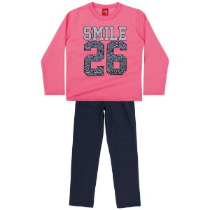 Conjunto Infantil Blusa + Calça Moletom Smile Kyly 206389