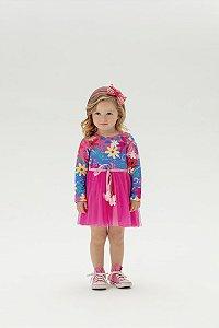 Vestido Infantil Tule Mon Sucre 1162