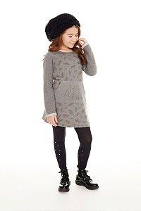 Vestido Infantil Manga Longa Unicórnio - Pega Mania - 53054