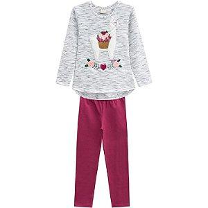 Conjunto Infantil Feminino Blusa + Legging Milon 12183