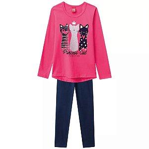 Conjunto Infantil Blusa + Legging Gatos Kyly 206688