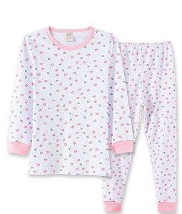 Pijama Longo Infantil em Suedine Pingo Lelê 76042