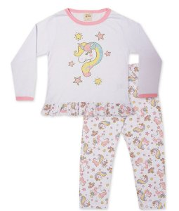 Pijama Longo Infantil Unicórnio Pingo Lelê 75068