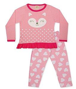 Pijama Longo Infantil Raposa Pingo Lelê 75058