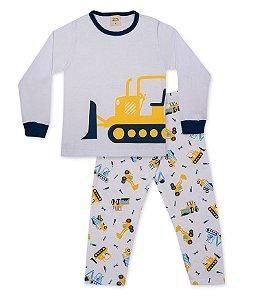 Pijama Longo Infantil em Suedine Pingo Lelê 85069
