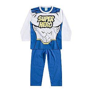 Pijama Longo Super Heroi Azul Kyly 206501