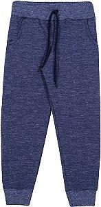 Calça Moletom Infantil Masculina Azul Marinho Serelepe 6012