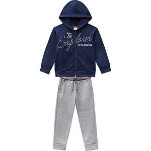 Conjunto Infantil Calça + Casaco Ziper c/ Capuz - AZUL 11475