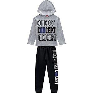 Conjunto Infantil Moletom Blusa c/ Capuz + Calça Concept Kyly 207223